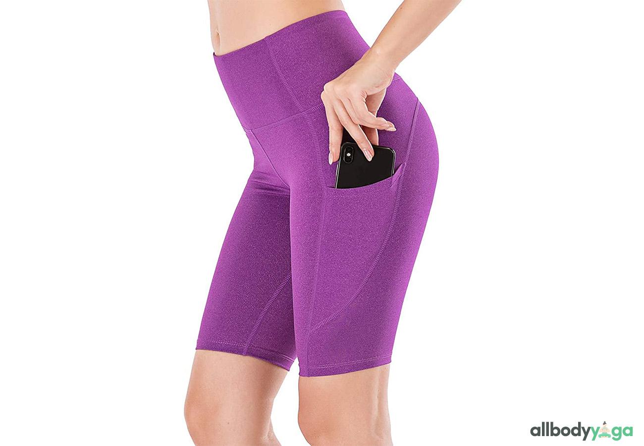Lianshp High Waist Yoga Shorts Tummy Control