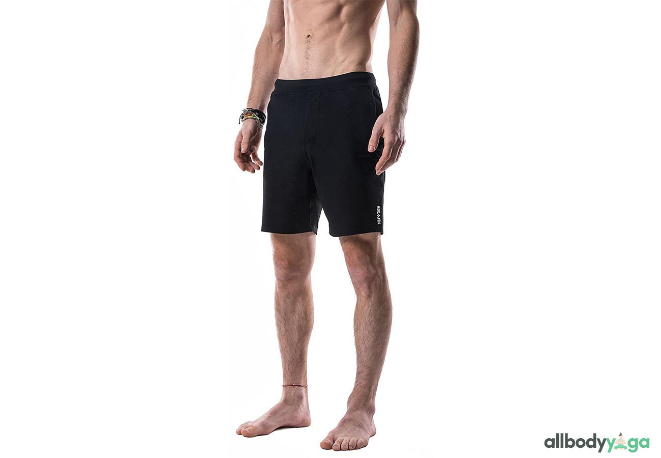 YOGA CROW Men's Swerve Yoga, Workout, Gym, Cross Train, Active Shorts